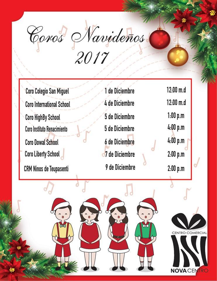 Coros navideños en novacentro
